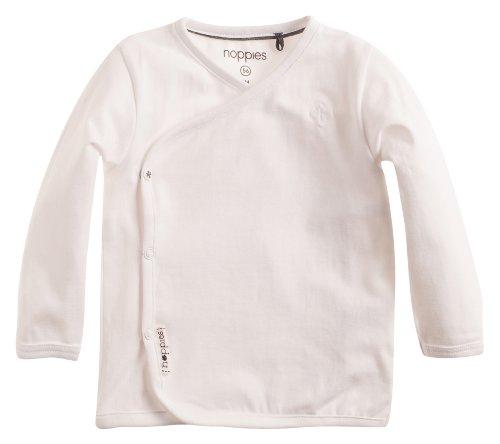 Noppies Unisex - Baby T-Shirt U Tee Ls Little, Einfarbig, Gr. Neugeborene (Herstellergröße: 62), Weiß