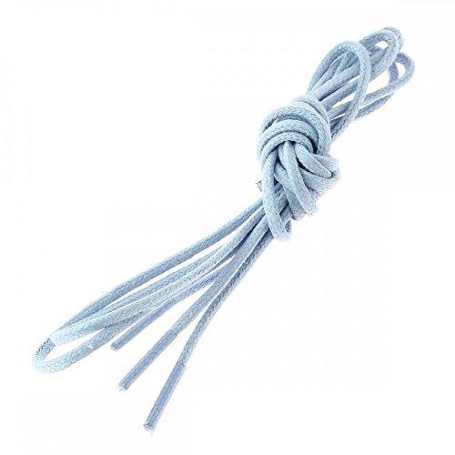 Les lacets Français Lacets Ronds Coton Ciré Couleur Bleu Ciel