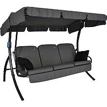 Angerer 41900/136/31 Comfort Style Hollywoodschaukel Style, Grau, 3 Sitzer