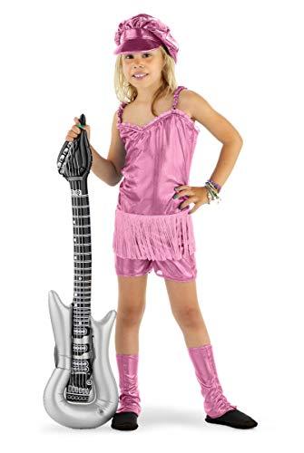 Folat 21854 -Rocker-Mädchen 3-Stück Kostüm Packung, Größe