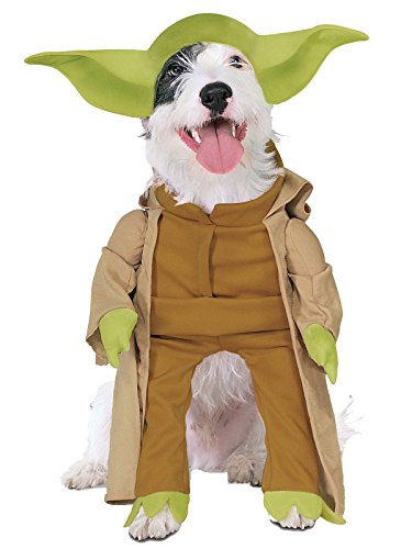 Disney Star Wars Yoda Hunde Fasching Halloween Karneval Kostüm Large (Yoda Halloween-kostüm)