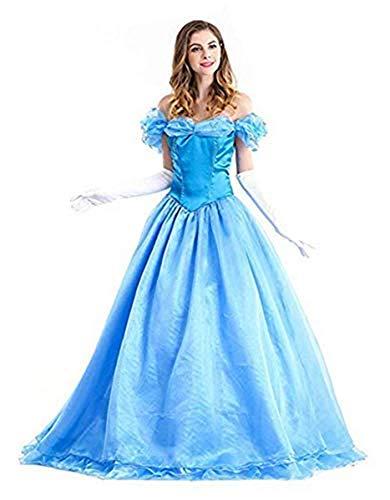 Xyfw Damen Sexy Märchen Prinzessin Kleid Cinderella Kostüm Für Erwachsenen Karneval Cosplay Halloween Fasching Verkleidung Faschingskostüme Themenpartys Fancy Dress Up Party Club Karneval (Sexy Märchen Kostüm Für Erwachsene)