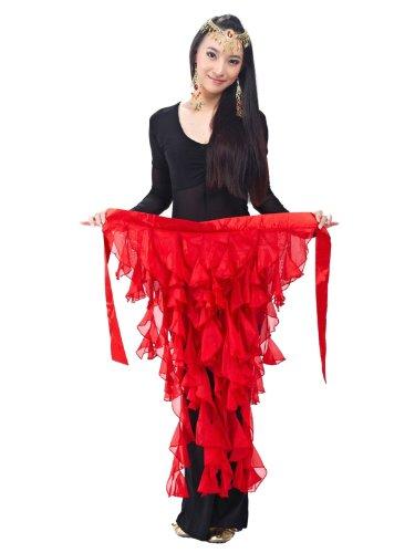 Dance Fairy rot neunschwänzige fox Chiffon- Blatt Rock für Bauchtanz (Kostüme Verschiedene Traditionelle Indien Von)