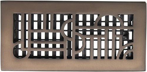 Grilles de Décor 10,2 cm par 25,4 cm Art Déco de sol Register, AD410-RB