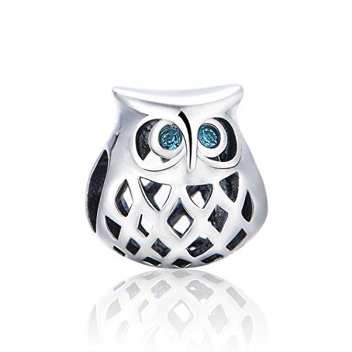 Gw charms gufo bead da donna argento sterling 925 adatto per bracciale pandora