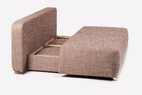 B-famous Schlafsofa Denver-PUR Struktur Capuccino, 193x93 cm - 4