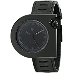 Lip Créateur 1892232 Roger Tallon Gents Watch Quartz Analogue Black Dial Black Leather Strap