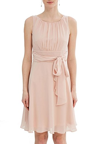 ESPRIT Collection Damen Kleid 027EO1E005, Beige (Dusty Nude 275), 42