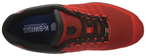 K-Swiss Rinzler, Baskets Basses Homme Rouge (Fiery Red/Black 610)