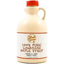 Jarabe de arce Grado A (Dark, Robust taste) - 1 litro (1,35 Kg) - Miel de arce - Sirope de Arce - Original maple syrup