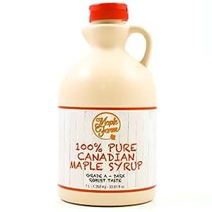 Puro sciroppo d'acero Canadese Grado A (Dark, Robust taste) - 1 litro (1,35 Kg) - Original maple syrup - Puro succo d'acero
