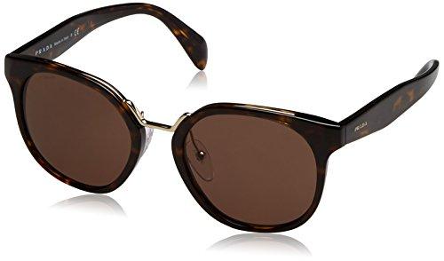 Prada Damen 0PR17TS 2AU8C1 53 Sonnenbrille, Braun (Havana/Brown)