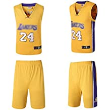 AGHQL Camiseta de Baloncesto Lakers Kobe 24 Número Bryant Fans de la NBA para niños Adultos