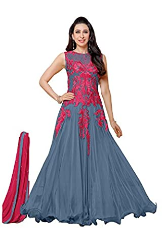 IWS Indian Women Designer Party wear Grey Anarkali Salwar Kameez R-16986