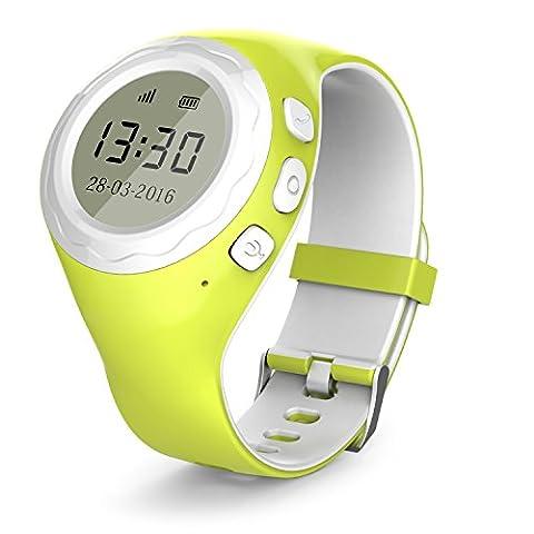 Pingonaut Kidswatch – Kinder GPS Telefon-Uhr, SOS Smartwatch mit Ortung, Tracker & Phone - Tracking App, Deutsche Software, (Gps Tracker Für Kinder)