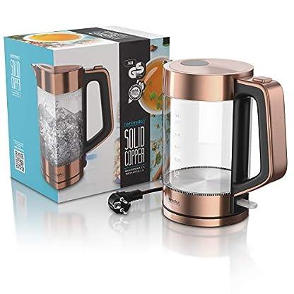 Arendo-Glas-Wasserkocher-Edelstahl-17-Liter-2200W-Cool-Touch-Griff-One-Touch-Verschluss-automatische-Abschaltung-integrierte-Kabelfhrung-berhitzungsschutz-Kupfer-Design