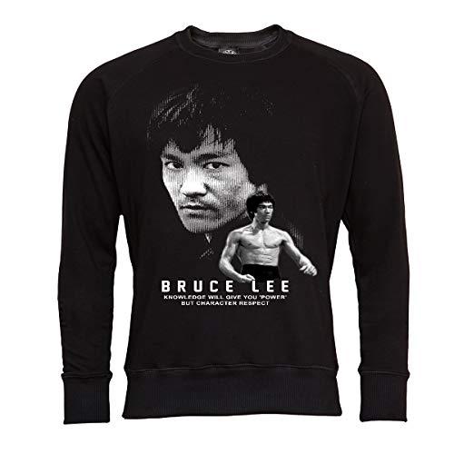 Rule Out Kinder Sweatshirt. Bruce Lee. Kung Fu. The Legend. Shwarz. Crewneck. Casual (Größe Medium) -