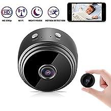 Kimwood Mini cámara Oculta, 1080P HD Mini WiFi Cámara Espía Oculta Portátil Interior/Hogar