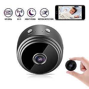 donde puedo comprar una camara oculta: Kimwood Mini cámara Oculta, 1080P HD Mini WiFi Cámara Espía Oculta Portátil Inte...