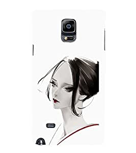 iFasho Chinese Girl Back Case Cover for Samsung Galaxy Note 4