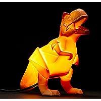 Dinosaur Lamp Orange Origami T-Rex Night Light by Disaster Designs