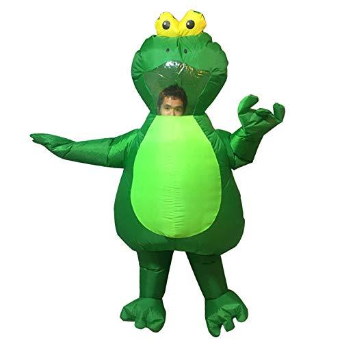 Erwachsene Frosch Maskottchen Kostüm Herren aufblasbare Frosch Overall Halloween Blow Up Kostüm