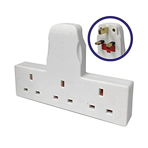 3 Way Adapter Mains Plug Adaptor Cable Free Multi-Socket Extension. (1 x Adapter)