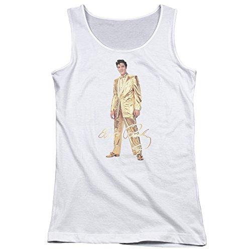 Elvis Presley - - Junge Frauen Gold Lame Anzug Tank Top, XX-Large, ()