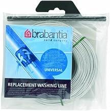 Brabantia 297243 - Cuerda de recambio para tendedero, 65 metros y 14 conexiones, color gris