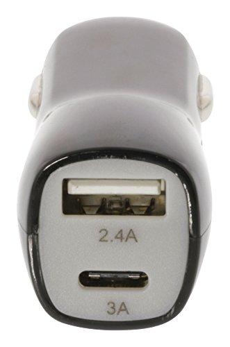 Eurosell 3.4A Schnelladegerät 12V 24V USB + USB-C Typ Type - Auto KFZ Zigarettenanzünder Adapter Ladegerät Netzstecker