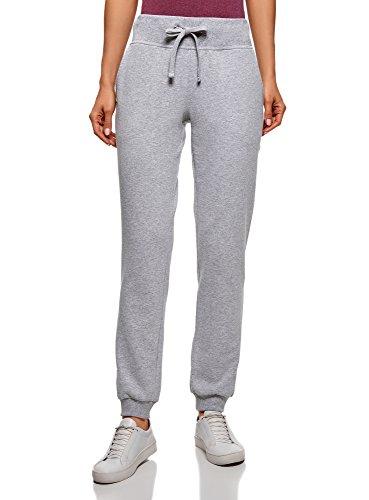 oodji Ultra Femme Pantalon de Sport en Maille, Gris, FR 36 / XS