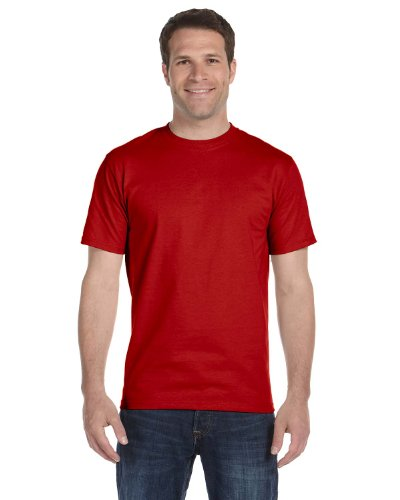 Hanes Beefy-T Adult Short-Sleeve T-Shirt Deep Red