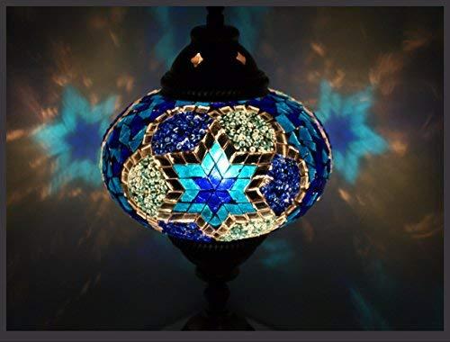 Mosaiklampe Mosaik - Tischlampe L Stehlampe orientalische lampe Blau Samarkand-Lights - Mosaik-tisch-lampe