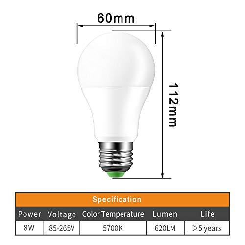 LED Kugellampe Auto Sensor Licht Dämmerung Licht Dämmerung Licht Outdoor Verwendung für Garten Hof, Wand Warmweiß cool white ()