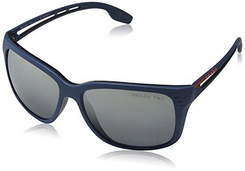 Prada Sport Herren Sonnenbrille 0PS03TS B522F2, Blau (Matte Blue/Polargrey Silver), - Prada Brillen Sport