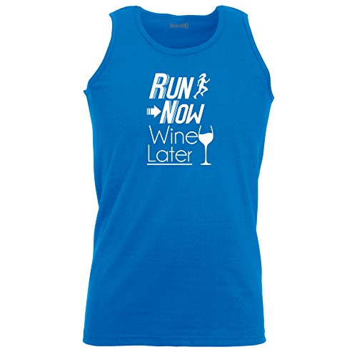 Brand88 - Run Now Wine Later, Unisex Athletic Weste Koenigsblau