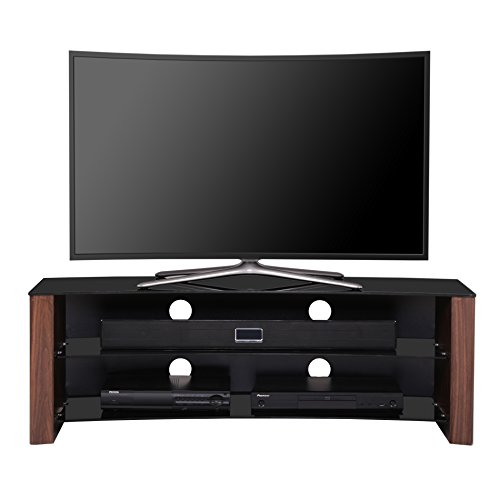 1home curved tv stand fits 32 55 inch 4k ultra hd flat. Black Bedroom Furniture Sets. Home Design Ideas