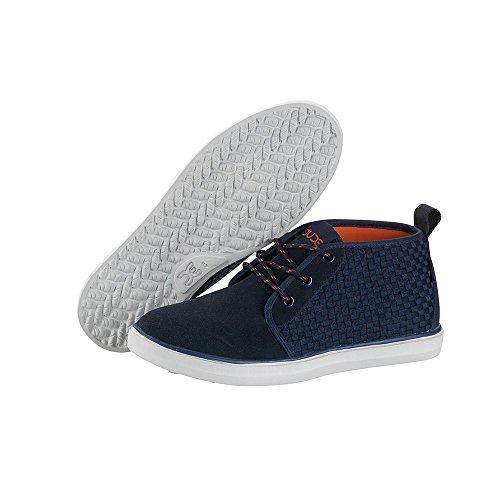 Dude Shoes Men's Terni Navy Suede Chukka Boot blue