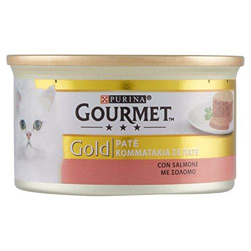 GOURMET GOLD Patè con salmone umido gatto gr. 85 - Mangimi umidi per gatti