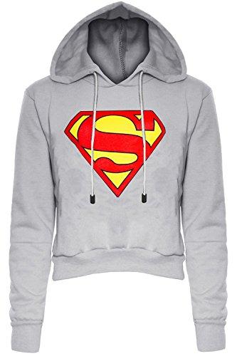 Be Jealous -  Felpa con cappuccio  - Maniche lunghe  - Donna Superman Grey