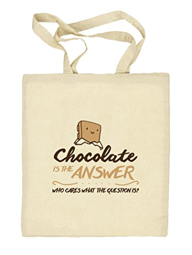 Shirtstreet24, Chocolate Is The Answer, Natur Stoffbeutel Jute Tasche (ONE SIZE) Natur