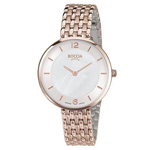 Boccia - 3244-06 - Montre Femme - Quartz - Analogique - Bracelet Titane doré