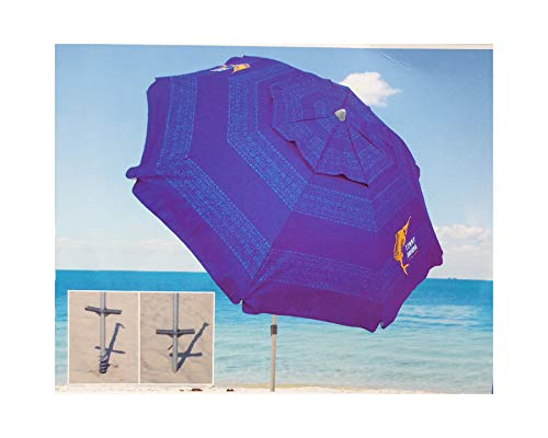 Tommy Bahama Strandschirm Kollektion 2019 Modell Blau. mit Sandanker