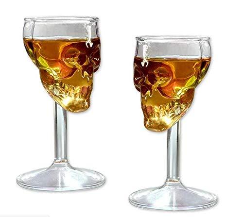 275ml Creative Totenkopf Skelett Weinglas Cup Karaffen Goblet Glas Alkohol rot Wein Cocktail Whisky Bier Champagner - Bier-cup