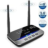 Receptor Transmisor Bluetooth 5.0,3 en 1 Adaptador de Audio Inalámbrico Bluetooth con NFC,aptX HD&aptX LL (Baja Latencia),80M Largo Alcance,Dual-enlace,para TV, PC,Estéreos para Coches,etc.