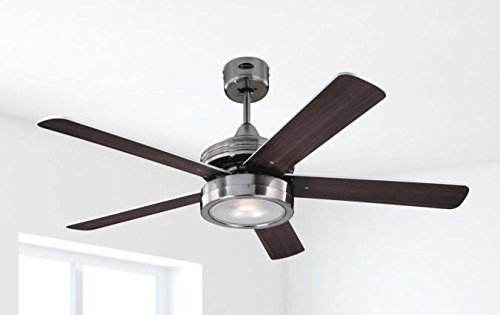 419UhFsTARL - Westinghouse Ceiling Fans 78545 Hercules One-Light 132 cm Five-Blade Indoor Ceiling Fan, Brushed Nickel Finish