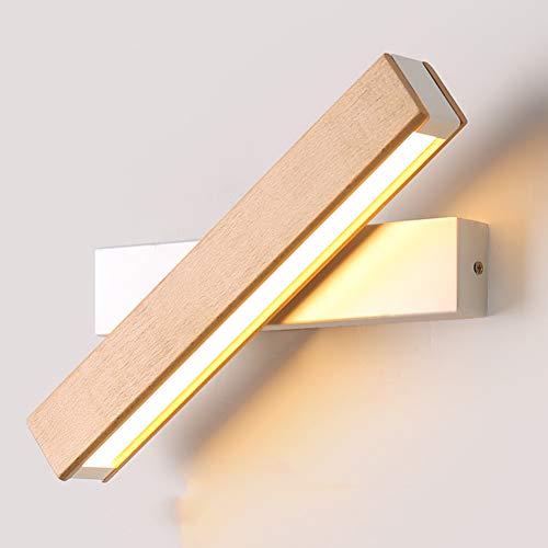 SUNA LED Nordic Applique Murale Simple Salon Chambre à Coucher Bande LED Lumière Chaude Applique Murale Miroir Avant Miroir (blanc)