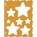 Fiskars Patrones para cortar, diseño de estrellas, Naranja