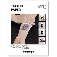 Papel de inyección de tinta para tatuajes de Sunnyscopa, pack de 5 hojas en formato A4
