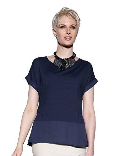 Damen Shirt mit Volant aus Webware by AMY VERMONT Eisblau